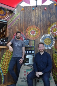 Colin Pyle (left) and John Quilter (right) are two of the founders of Cru Kafe. Photo: Ben Flanagan